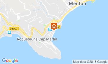 Mappa Menton (Mentone) Appartamento 117152