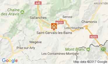 Mappa Saint Gervais Mont-Blanc Appartamento 111843