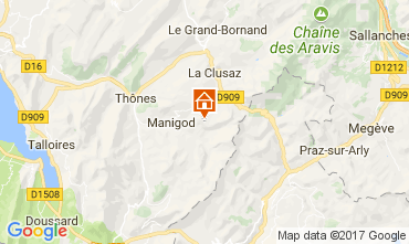 Mappa Manigod-Croix Fry/L'étale-Merdassier Appartamento 112072