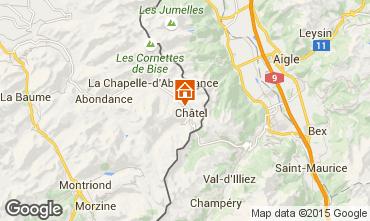 Mappa Châtel Chalet 73656