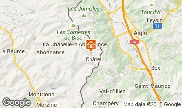 Mappa Châtel Chalet 58875