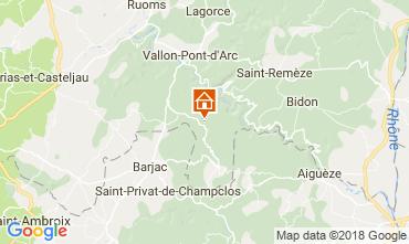Mappa Labastide de Virac Villa  116056