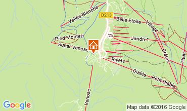 Mappa Les 2 Alpes Appartamento 28328