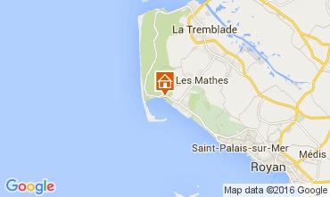 Mappa La Palmyre Casa mobile 92743