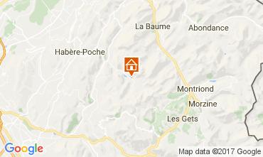 Mappa Bellevaux Hirmentaz La Chèvrerie Appartamento 102046