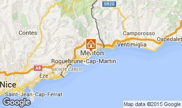 Mappa Menton (Mentone) Appartamento 5403