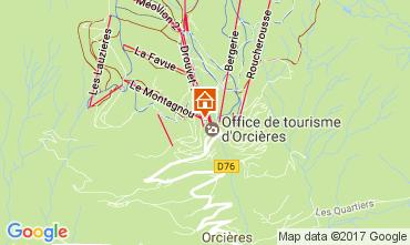 Mappa Orcières Merlette Appartamento 44863