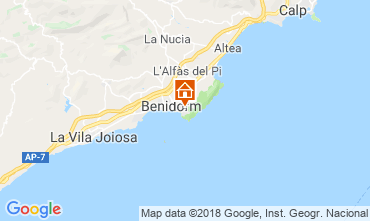 Mappa Benidorm Appartamento 116824