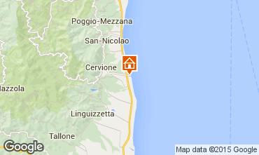 Mappa Moriani Plage Monolocale 71854