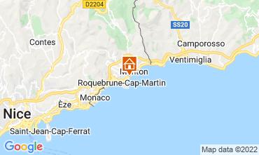 Mappa Menton (Mentone) Appartamento 119398
