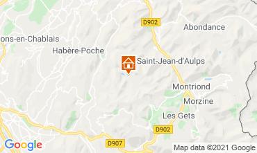 Mappa Bellevaux Hirmentaz La Chèvrerie Monolocale 56981