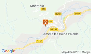 Mappa Amélie-Les-Bains Monolocale 119639