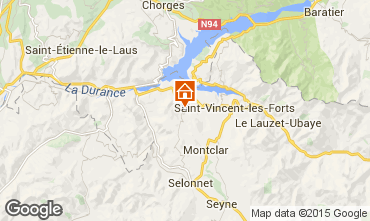 Mappa Barcelonnette Casa mobile 93371