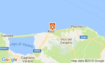 Mappa Rodi Garganico Villa  113185