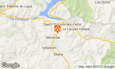 Mappa Saint Jean Montclar Monolocale 59268