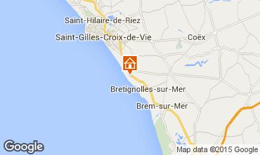 Mappa Bretignolles sur mer Casa 21946