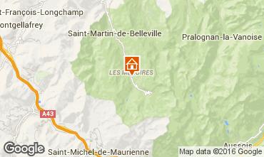 Mappa Les Menuires Appartamento 1736