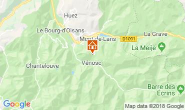 Mappa Les 2 Alpes Chalet 116881