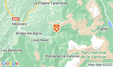 Mappa Champagny en Vanoise Monolocale 30023