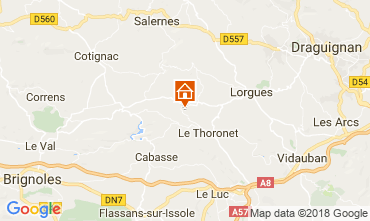Mappa Le Thoronet Agriturismo 113716
