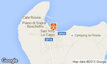 Mappa San Vito lo Capo Appartamento 101669