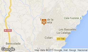 Mappa Calpe Casa 60059