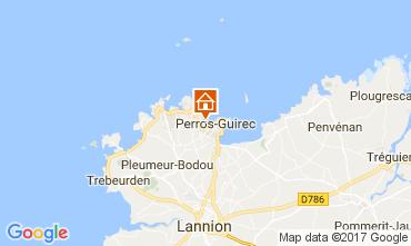 Mappa Perros-Guirec Appartamento 112012