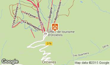 Mappa Orcières Merlette Appartamento 80806