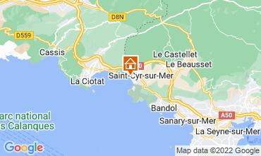 Mappa Saint Cyr sur Mer Appartamento 97574