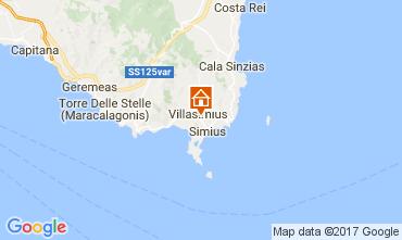 Mappa Villasimius Appartamento 109007