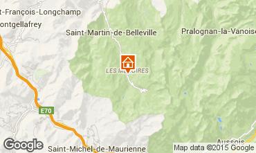Mappa Les Menuires Monolocale 1708