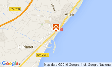 Mappa Altea Appartamento 103945