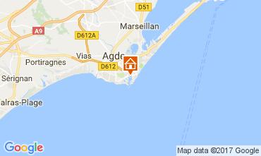 Mappa Cap d'Agde Villa  112310