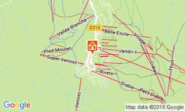Mappa Les 2 Alpes Monolocale 107074