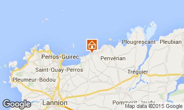 Mappa Perros-Guirec Appartamento 79685