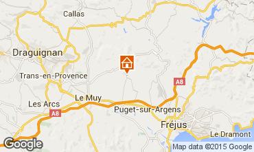 Mappa Roquebrune sur Argens Villa  95485