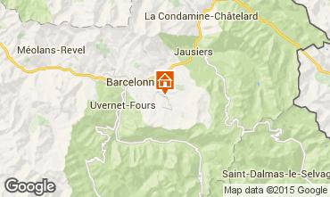 Mappa Le Sauze Monolocale 50147