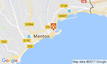 Mappa Menton (Mentone) Appartamento 61049