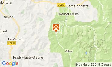 Mappa La Foux d'Allos Appartamento 113414