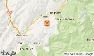 Mappa La Plagne Appartamento 80286