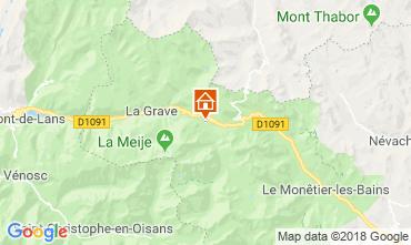 Mappa La Grave - La Meije Chalet 51065