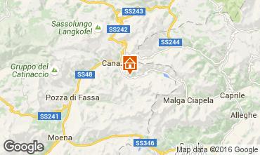 Mappa Canazei - Belvedere Appartamento 45784