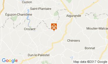 Mappa La Souterraine Casa 107716