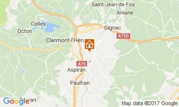 Mappa Clermont l'Hérault Villa  108631