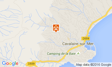 Mappa Cavalaire-sur-Mer Villa  53296