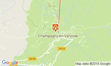 Mappa Champagny en Vanoise Monolocale 112836