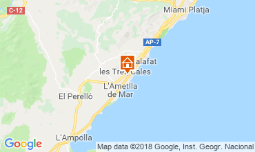 Mappa La Ametlla de Mar Villa  108717