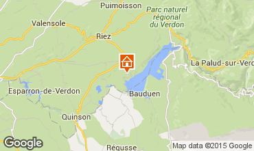 Mappa Sainte-Croix-du-Verdon Agriturismo 86894