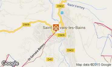Mappa Saint-Gervais-les-Bains Appartamento 73512