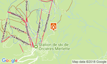 Mappa Orcières Merlette Chalet 115606